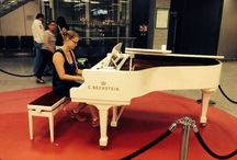 Bechstein at Frankfurt Airport / When travelling via Frankfurt Airport, visit our #Bechstein grand piano at terminal 1 and play your favorite song!