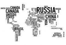 Maps of the World / Maailmankartan voi piirtää monella tapaa.  Näyttävä ja suurikokoinen canvastaulu 80 x 120 cm. Moderni ja raikas karttakuvitus!