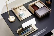 Böwer - Charlie / A familiy od desk accessories. Made of elm and glass. Tidy up!