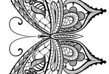 Pillangó színezők