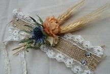 Barn wedding garter belt