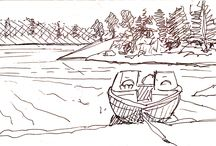 Lake of the Woods, Canada / Location sketches from Lake of the Woods