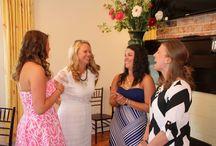 Vintage Rose Wedding Estate Bridal Shower / Beautiful brides celebrating at Vintage Rose Wedding Estate in Pilot Mountain, NC