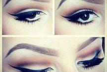Pinup / Hair and eye makeup pinup