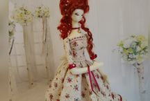 Handmade doll Mary. Кукла интерьерная текстильная. рост 38см.
