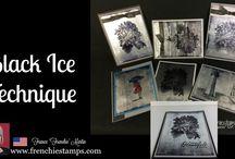 Black Ice on Foil Stampin Up