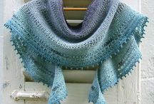 châle tricot dentelle