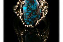 Bisbee Turquoise Gold Jewelry