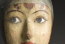 Folk Art - Milliner's Heads