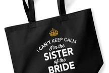 Sister of the Bride / Gifts for the Sister of the Bride. From mugs and shirts and from bestselling bags and keepsakes to laser engraved gifts for the Sister of the Bride. Something special and original to cater for the special day, helping to make the perfect wedding.