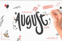 The Magnificent August Bundle / Possibly our biggest ever bundle, including 65 different fonts and 13 different Graphics Packs. All for 97% OFF RRP!