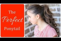 PonyTail Tutorials / PonyTail Tutorials, for all hair types.