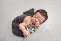 Kitten & Newborn Photoshoot