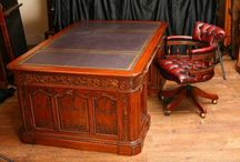 Presidents Desk / The Presidents Desk has to be one of the most iconic and historic desks out there. This mahogany Presidents Desk is hand crafted and is a true partners desk. It is also referred to as the Resolute Desk as the original desk was a gift from Queen Victorian of England to the United States and was made from the wood of the sunken ship HMS Resolute. We can also supply the Presidents Desk with a swivel office chair in matching mahogany