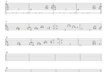 Tablature for guitar solo (fingerstyle)