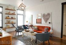 Modern Vintage Rooms / Modern homes with vintage accessories.