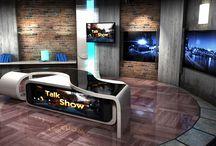 News Studio Set