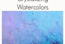 Technik Wasserfarben