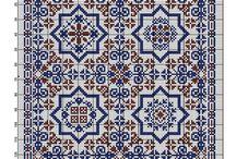 squares cross stitch pattern