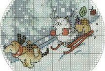 Xmas embroideries