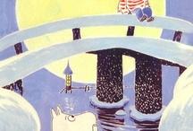 winter moomin ilustrations