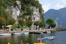 Salzkammergut lake district in Austria