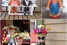 Flowerpot outdoor art