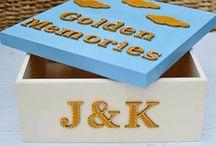 Golden Wedding Anniversary Memory Box from Popsyclunk