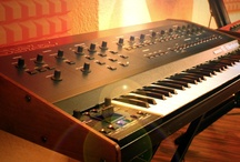 """My lovely Synthesizers / Roberto De Carlo loves to mix the best vintage analog gear with the latest digital equipment. With synthesizers of the 70's and 80's, which he collected all over the world, Roberto De Carlo gives its sound the authentic 80's style – just like the motto: """"from soulful to disco – best analog sounds meets digital era!""""."""