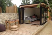 Pent roof summer house