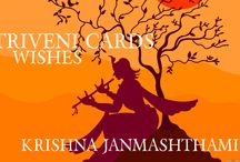 TRIVENI WISHES - KRISHNA JANMASHTHAMI / TRIVENI WISHES - KRISHNA JANMASHTHAMI  http://www.weddingcardshoppe.com/  Our life is perfect once we find a teacher, or guru, who can show us how to purify our consciousness and reestablish our love and service attitude for God. The easiest (and most highly recommended) method of self-purification is to chant the holy names of God—the Hare Krishna mantra—in the company of like-minded spiritual seekers, or devotees of Krishna.
