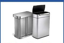 Stainless Steel Kitchen Trash Cans / Trash cans made of high quality stainless steel for the kitchen. Simplehuman is one of the most popular manufacturer thats makes stainless steel trash and recycling bins.