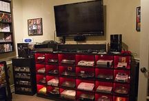 Retro Video Game Setups / Collection of awesome video game cabinets/displays and game rooms.