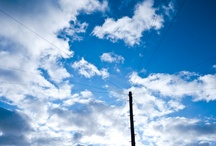 Blue, blue sky.