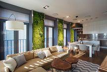 interiors I green walls & plants