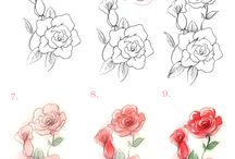 How to draw flowers?