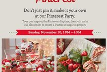 Pinterest Party at Michaels