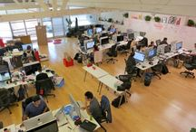 Cool tech startups offices