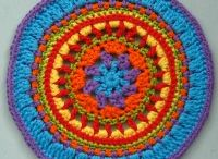Mandala Wheels 10 / Crochet mandalas created for Yarndale 2014