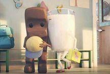 Einfach Milch und Schokolade...