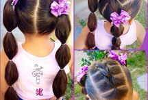 Girls hairstyling