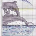 Borduurpatronen Dolfijn