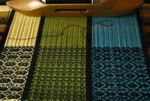 Woven / Cloth on the loom, woven studies, variety of weave structures