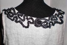 Bobbin lace collars & trims