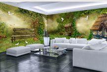 Décoration murale grande panoramique papier peint photo tapisserie paysage poster géant personnalisé