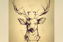 Stag tattoo / Tattoos and stags