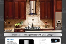Range Hood / Stainless Steel Range Hoods with Glass Canopy