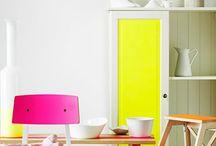 Interieurs colorés