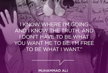 Muhammad Ali- floats like a butterfly and stings like a bee