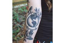 Tattoo globe